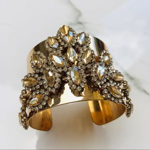 Nordstrom gold cuff crystal bracelet